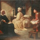 Guido Reni painting the portrait of Beatrice Cenci in her cell