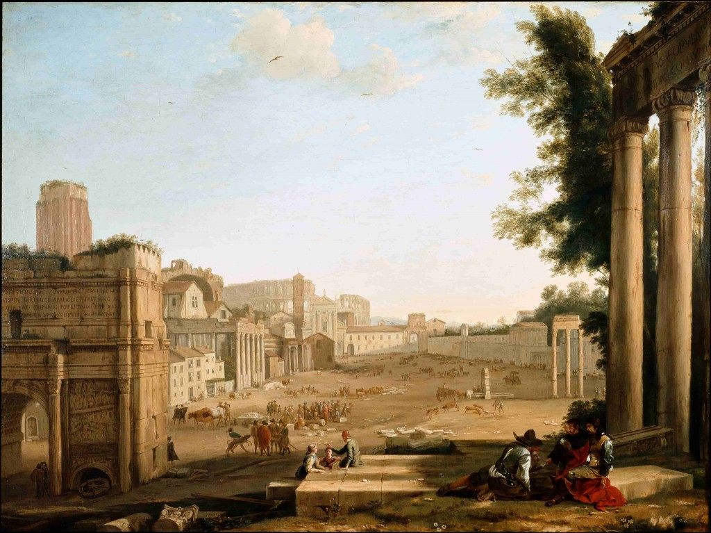 Circle of Claude Lorrain, View of the Campo Vaccino, Rome