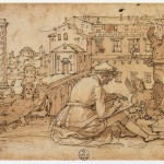 Federico Zuccari, Taddeo Zuccaro Copying the Antique Statues in Rome,