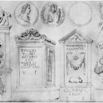 Jacopo Bellini, Album del Louvre, Epigrafi e monete