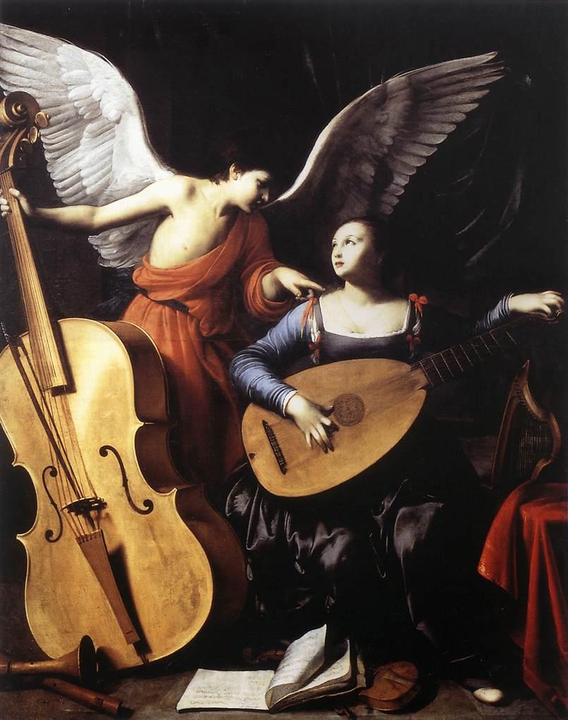 Carlo Saraceni (attr.), Saint Cecilia and the Angel