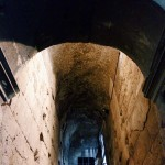 One of the stairways connecting the first and second levels inside the Colosseum.