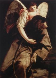 Orazio Gentileschi, Saint Francis and the Angel