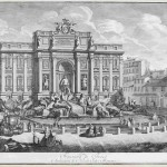 Carlo Antonini, Roma, Fontana di Trevi, etching (46 x 68) cm, via Nagel Auktionen.