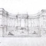 Pietro da Cortona, Project for the façade of Palazzo Chigi in piazza Colonna, 1658-1659, Vatican City, Biblioteca apostolica Vaticana.