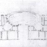 Pietro da Cortona, Project for the façade of Palazzo Chigi in piazza Colonna, plan, 1658-1659, Vatican City, Biblioteca apostolica Vaticana.