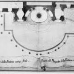 Luigi Vanvitelli (project), Virginio Bracci (drawing), Project B for the Trevi Fountain