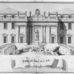 Vanvitelli - project B for the Trevi Fountain, fron