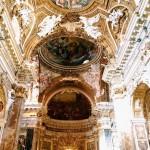 Interior of the chiesa di Santa Maria della Vittoria, Rome