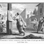 Silvestre David Mirys, Sulla orders to affix the list of the proscribed men, engraving, ca. 1799