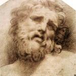 Parmigianino (1503–1540), Testa del laocoonte (Head of the Laocoön), 1530s