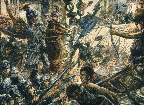 Jean-Pierre Granger, Sulla fights his way into Rome, wood engraving, 19th century.