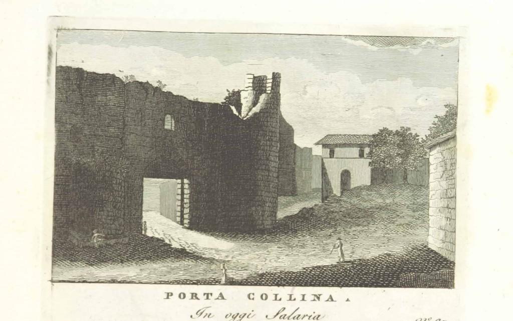 Porta Collina, engraving from Stefano Piale, Vedute antiche e moderne le più interessanti della città di Roma