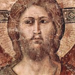 Pietro Cavallini, Head of Christ from the Last Judgment (detail), basilica di Santa Cecilia in Trastevere