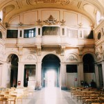 The basilica di Santa Cecilia in Trastevere counter façade