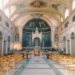 Interior of the basilica di Santa Cecilia in Trastevere