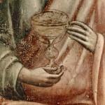 Pietro Cavallini, Apostle's hands from the Last Judgment (detail), basilica di Santa Cecilia in Trastevere
