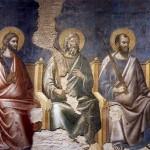 Pietro Cavallini, Apostles on the left from the Last Judgment (detail), basilica di Santa Cecilia in Trastevere