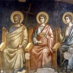 Pietro Cavallini, Apostles on the right from the Last Judgment (detail), basilica di Santa Cecilia in Trastevere