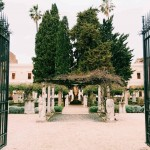 The entrance garden of the Museo Nazionale Romano alle Terme di Diocleziano