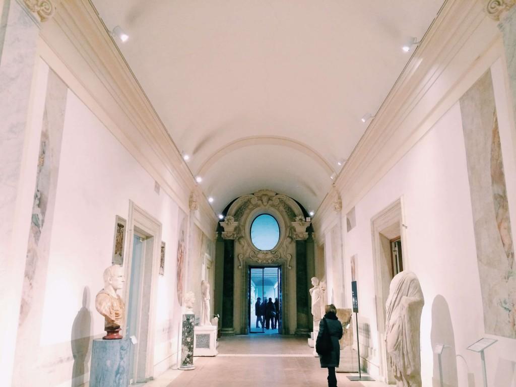 The interior of the Museo Nazionale Romano alle Terme di Diocleziano, Rome.