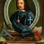 Portrait of Francesco Borromini at the sacristy of San Carlo alle Quattro Fontane complex