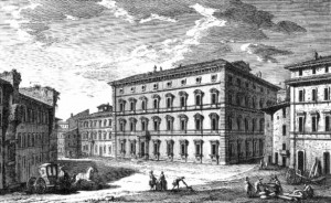 Giuseppe Vasi, Palazzo Maffei Marescotti alla Pigna, Rome, 1746, engraving.