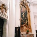 """Francesco Borromini, left side of the chiesa di San Carlo alle Quattro Fontane, also called """"San Carlino"""""""
