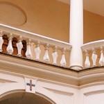 Francesco Borromini, detail of the balustrade at the cloister of San Carlo alle Quattro Fontane complex