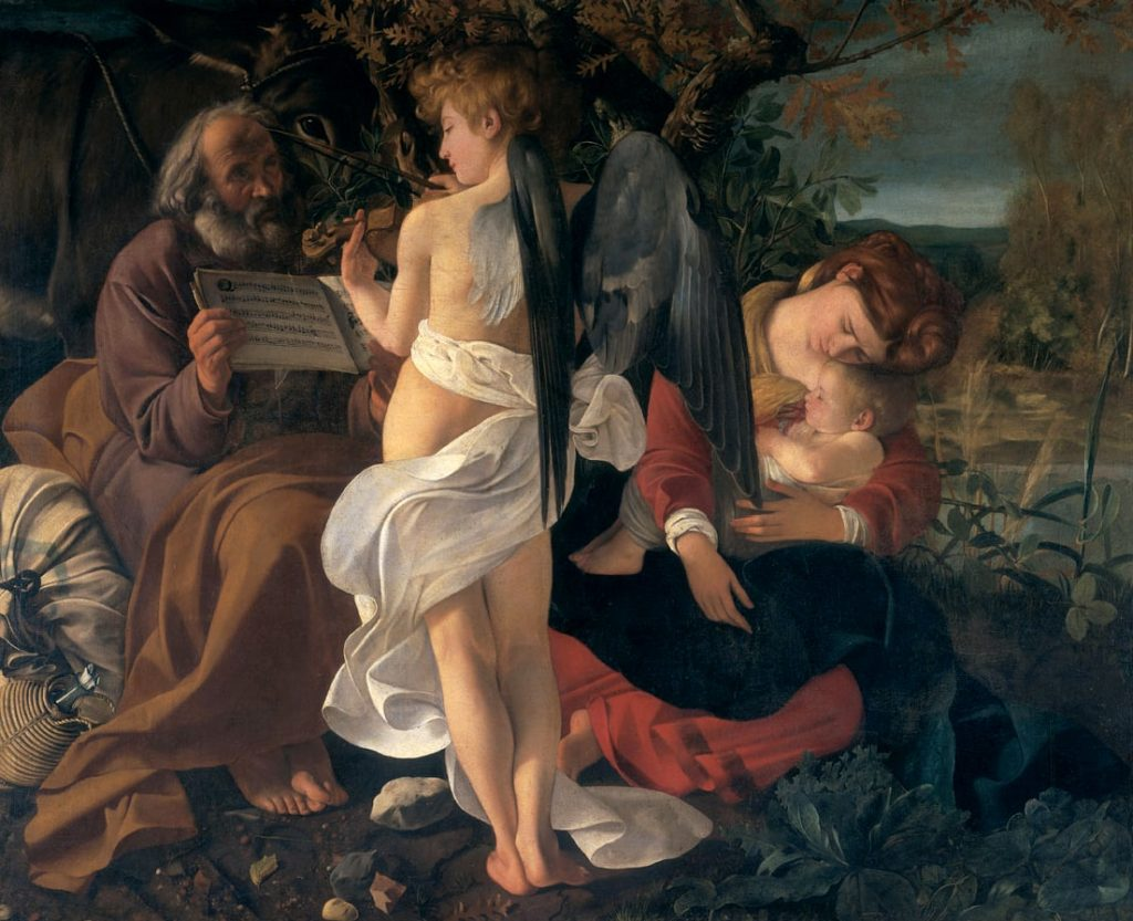 Michelangelo Merisi da Caravaggio, Rest on the Flight into Egypt, Sala Aldobrandini, Palazzo Doria Pamphilj, Rome