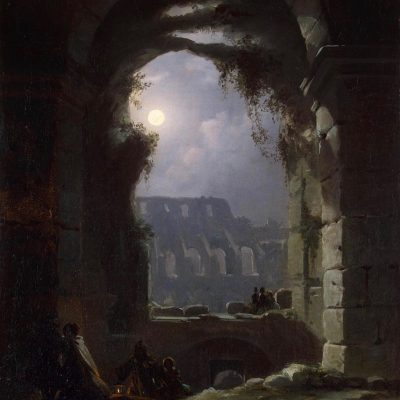 Carl Gustav Carus (1789–1869), View of the Colosseum by Night
