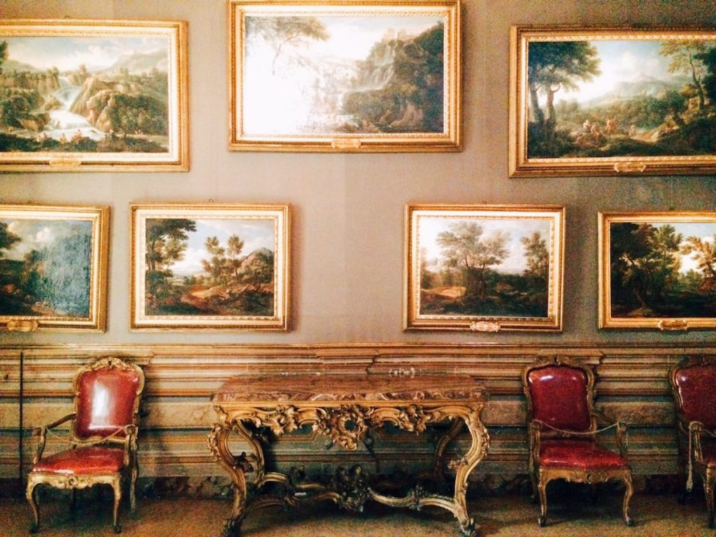 Il Palazzo Pamphilj ad Albano, fourth room towards via del Corso, Palazzo Doria Pamphilj, Rome