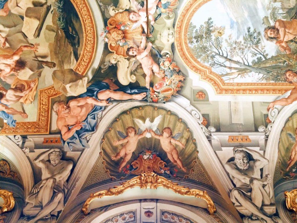 Galleria degli Specchi ceiling, 2nd wing, Palazzo Doria Pamphilj, Rome