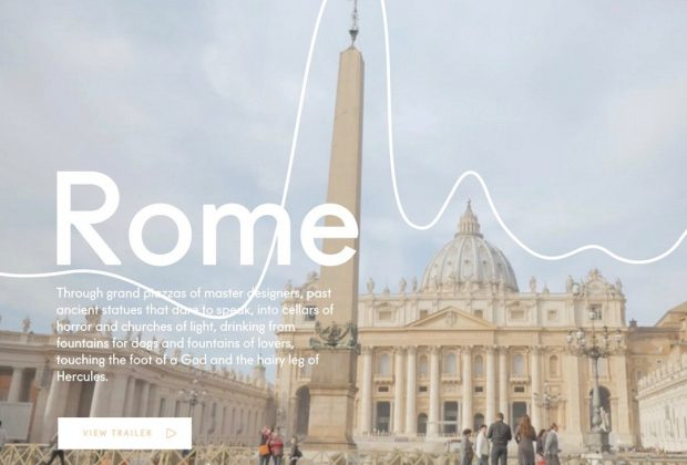 A screenshot of Rome cover page on Storytrail.co