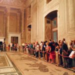 """Sala del Mappamondo, belonging to the monumental halls visited during the tour by night of Palazzo Venezia in Rome, guided by the museum director Sonia Martone, on the occasion of """"Il giardino ritrovato"""" initiative on 2016 summer nights"""