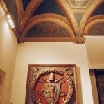 """Anteroom of the Cybo apartment visited during the tour by night of Palazzo Venezia in Rome, guided by the museum director Sonia Martone, on the occasion of """"Il giardino ritrovato"""" initiative on 2016 summer nights"""