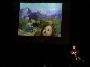 """""""Raffaello mai visto"""" art conversation with Paolo Violini, curated by Marco Ruffini, 9 August 2016, Rome, Palazzo Venezia courtyard"""