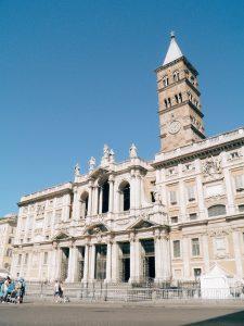 Façade of the basilica di Santa Maria Maggiore, Rome