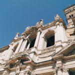 Detail of the basilica di Santa Maria Maggiore façade, Rome