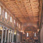 Interior of the basilica di Santa Maria Maggiore, Rome