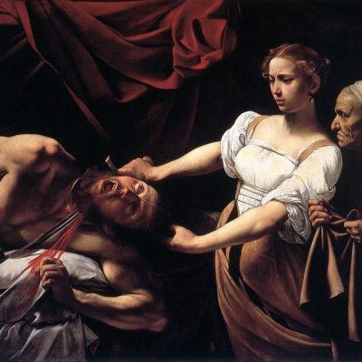 Michelangelo Merisi da Caravaggio, Judith Beheading Holofernes (detail), ca. 1599