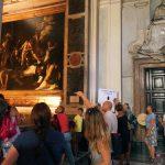 The visit guided by Caterina Panetta of Through Eternity in Rome, chiesa di San Luigi dei Francesi, Contarelli chapel
