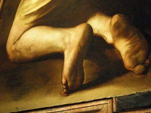 Michelangelo Merisi da Caravaggio, Madonna di Loreto or Madonna dei Pellegrini (detail), ca. 1604–1606