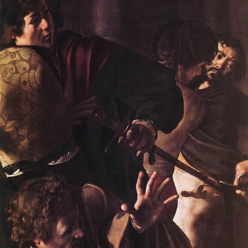 Michelangelo Merisi da Caravaggio, The Martyrdom of Saint Matthew (detail), ca. 1599-1600