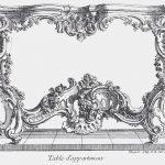 Juste Aurèle Meissonier (1695 – 31 July 1750), engraved design for a side table, ca. 1730, engraving, Paris