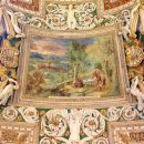 Detail of the vault decoration with stucco and paintings at the Galleria delle Carte Geografiche, Musei Vaticani