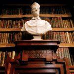 Francesco Moratti, marble bust depicting cardinal Enrico Noris