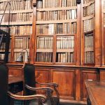 The readers' seats at the Biblioteca Angelica, Rome