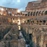 The interior of the Flavian Amphitheater, Rome