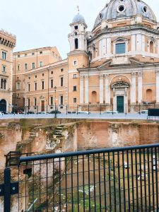 Ancient Roman remains discovered on the occasion of the archaeological investigations prior to the works for the piazza Venezia subway station between 2007 and 2011 and identified with Hadrian's Auditoria